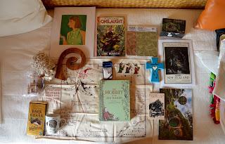 new zealand souvenirs including the hobbit, waitomo caves print, sheep