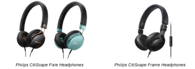 Philips CitiScape Fixie Headphones and Philips CitiScape Frame Headphones