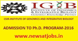 csir+igib+admission+program+2016