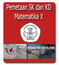 Pemetaan SK dan KD, Matematika Kelas X