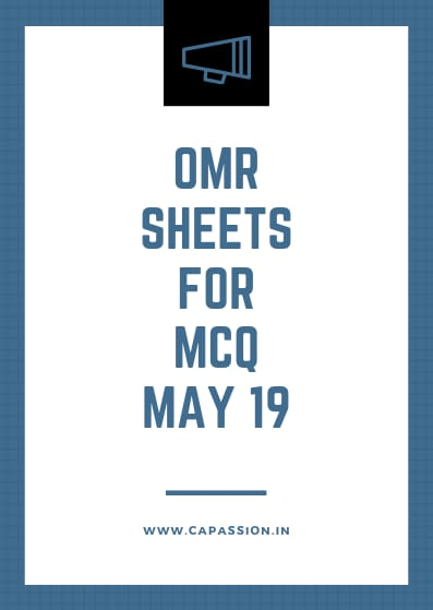 OMR sheets will be provided to answer MCQs from CA May 19