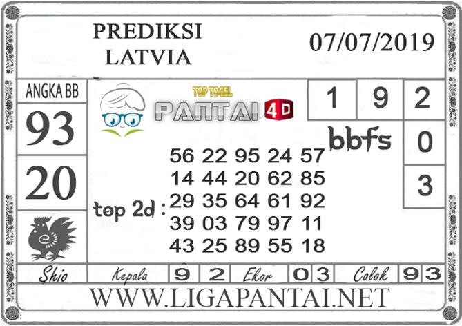 """PREDIKSI TOGEL """"LATVIA"""" PANTAI4D 7 JULI 2019"""