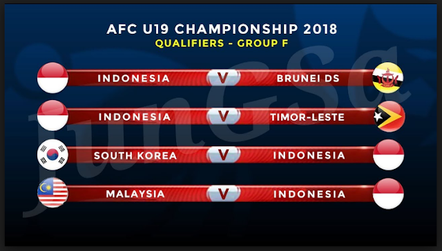 Indonesia U19 Vs Brunei U19 AFC Championship - Qualification U19, 31th October 2017