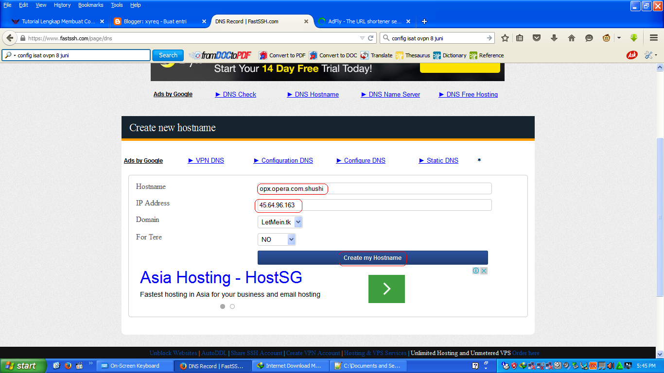 Secure web proxy server list