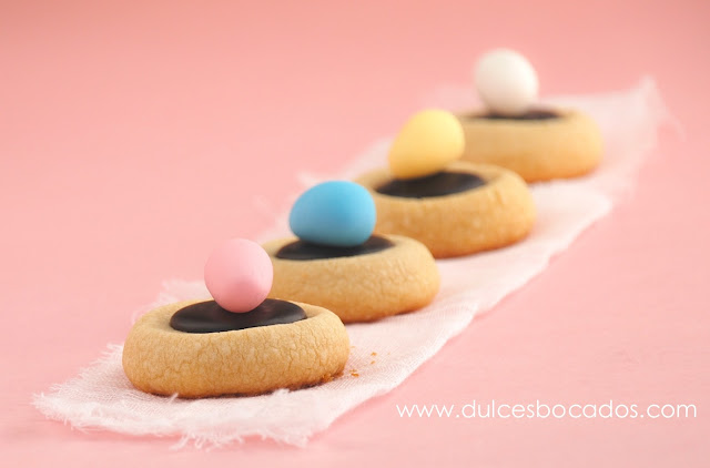 Thumbprint cookies de Pascua