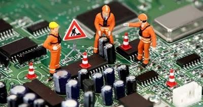 Teknik dan Cara Memperbaiki Komputer PC Mati Total dengan Menganti IC Regulator dan Kapasitor Motherboard