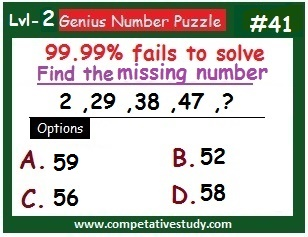 Number Puzzle: Find the missing number: 2, 29, 38, 47, ?