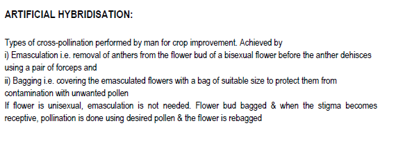 sexual reproduction in flowering plant notes notes with HOTs Questions