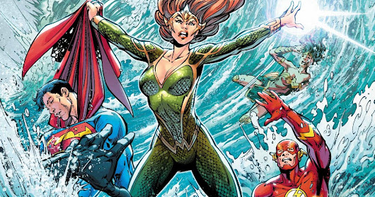 Mera takes on the League in JUSTICE LEAGUE #24