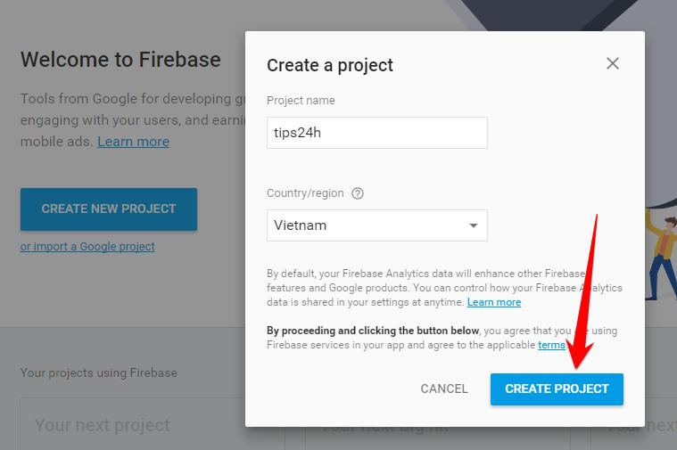 Hướng dẫn sử dụng firebase làm host lưu trữ cho blogger