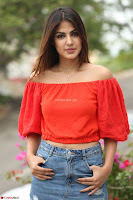 Rhea Chakraborty in Red Crop Top and Denim Shorts Spicy Pics ~  Exclusive 217.JPG