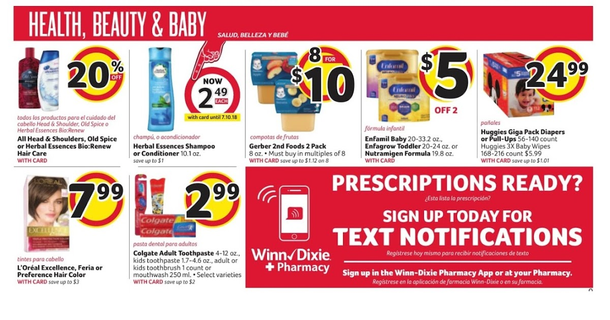 Winn Dixie Weekly Ad May 30 June 5 2018 Grocery Weekly Ads