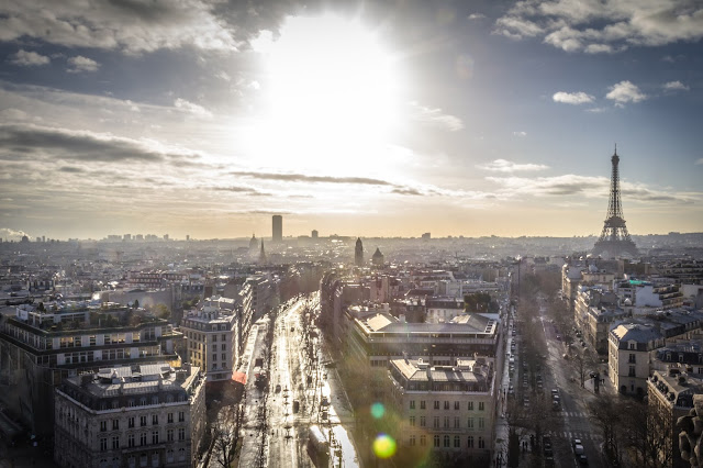Paris view from Arc de Triomphe