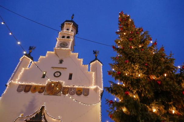 Weihnachtsmarkt, Kempten, Lichter