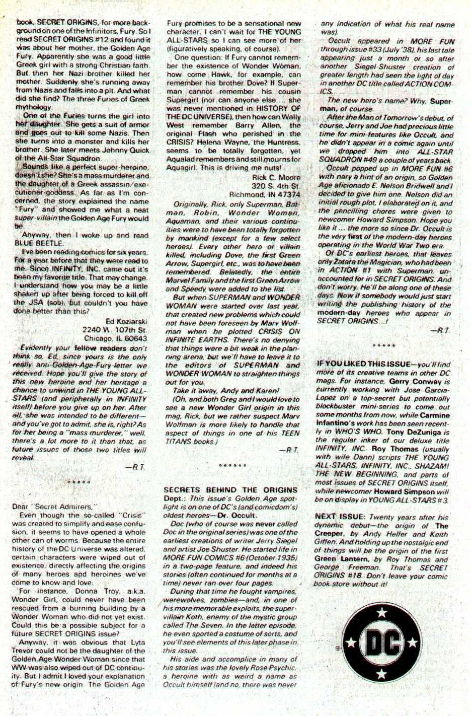 Read online Secret Origins (1986) comic -  Issue #17 - 43