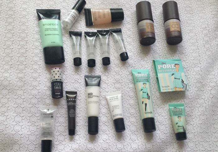 smashbox primer, tarte cc clay primer, makeup forever primer, benefit porefessional reviews