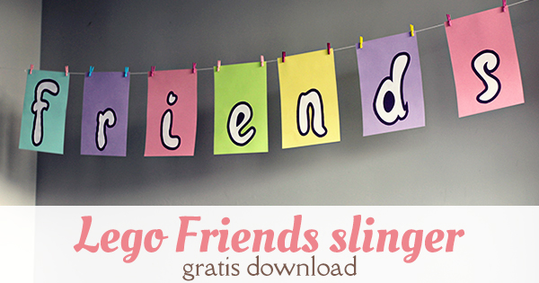 lego friends slinger knutselen gratis download