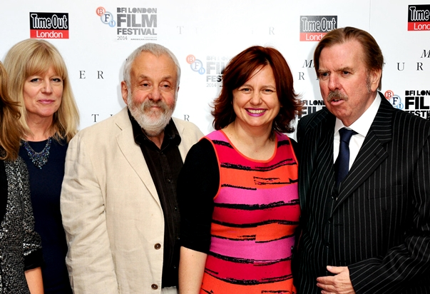 El equipo de Mr. Turner con Mike Leigh y Timothy Spall a la cabeza