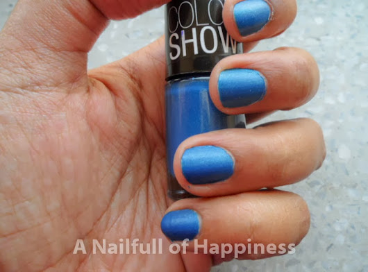 Maybelline Color Show Nail Enamel: 503 Denim Dash - Swatch and Review