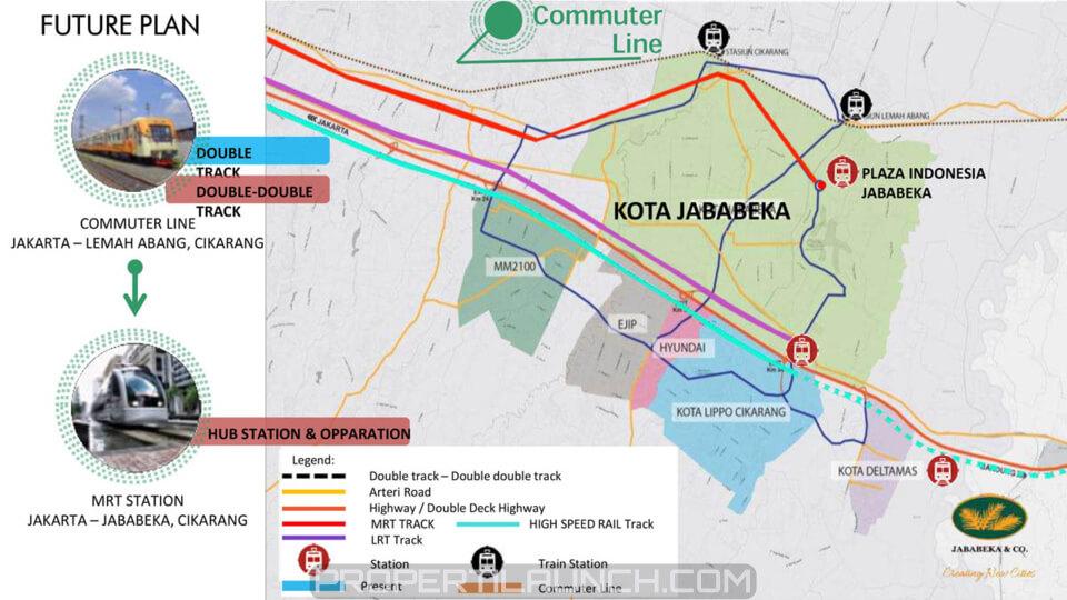 Peta Komuter Line / MRT Jababeka