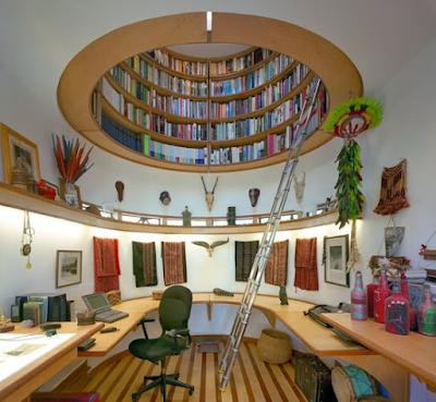konsep perpustakaan untuk ruangan yang sempit
