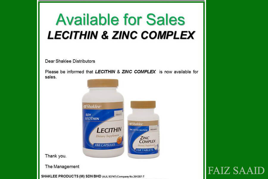 lecithin shaklee kembali for sales