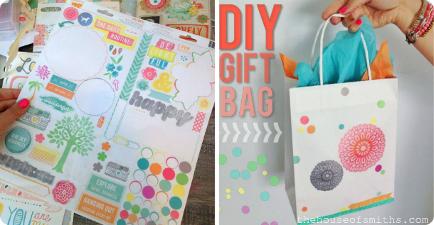 DIY gift bag idea - house of smiths