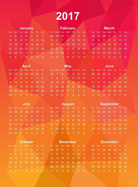 2017 calendar images yellow