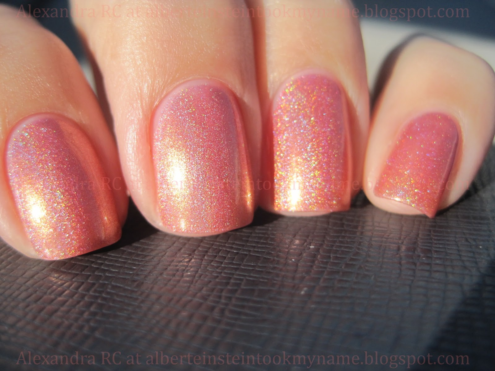 create the perfect manicure at home with coral coast, a glittering coral peach nail polish, nail color & nail lacquer that looks as captivating as the coast.