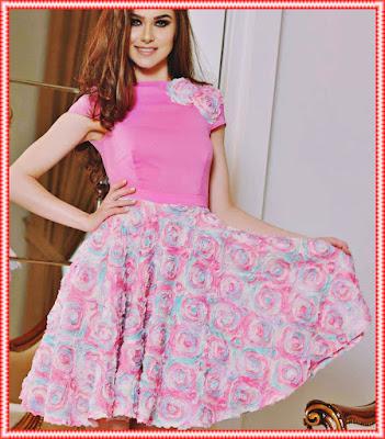 opinii rochii de ocazie pentru zi cu aplicatii florale