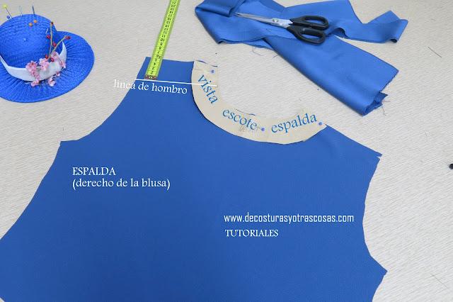 abertura con botones para blusa