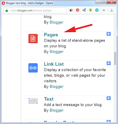 how to add and show pages on blogger blog.