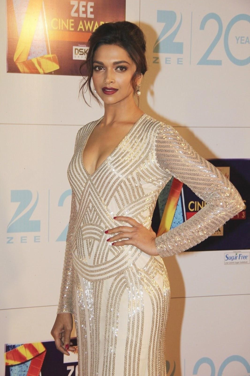 Deepika padukone at zee cine awards 2013.