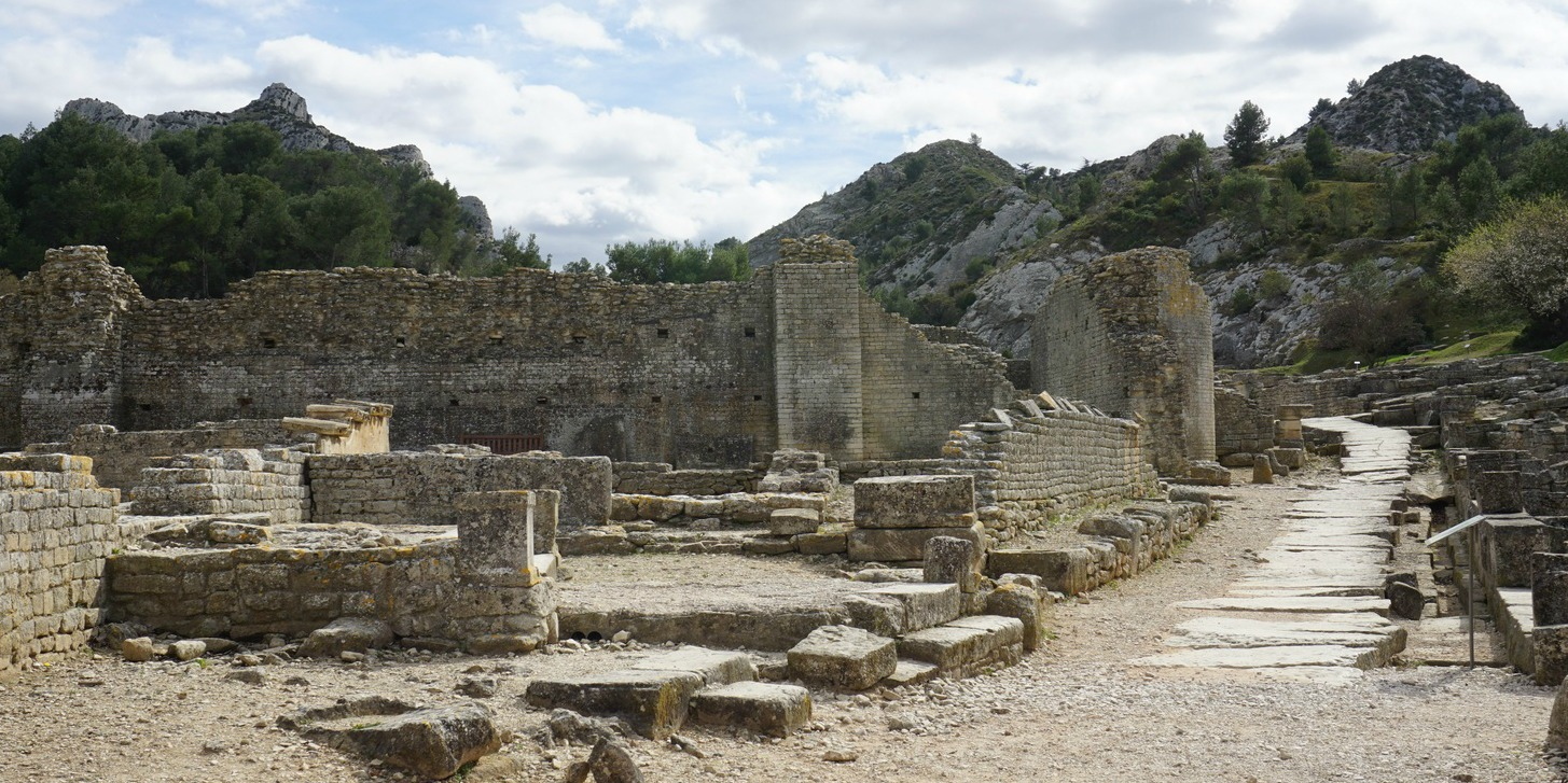 Main street of Roman city Glanum