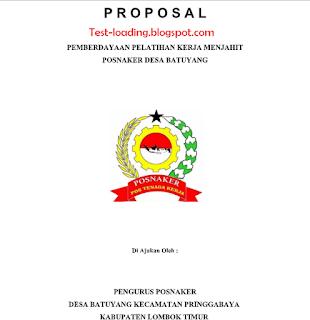 Contoh Proposal bantuan dana pelatihan menjahit