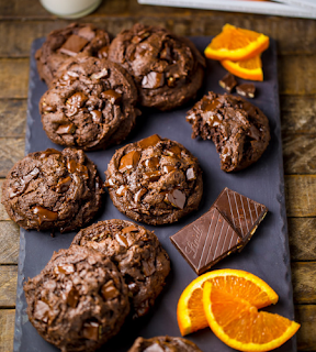 chocolate orange brownie cookies