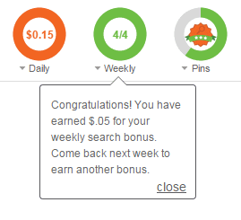 Weekly search bonus | Inbox dollars
