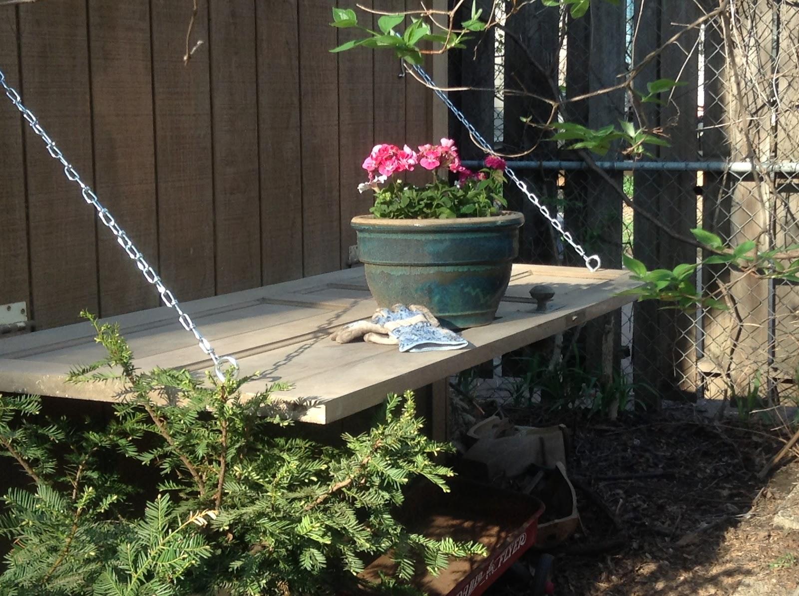 KRUSE'S WORKSHOP: Reclaimed Door Potting Bench