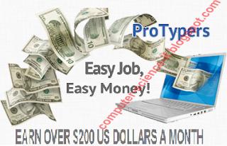 Kerja online gratis, Cara menghasilkan uang tambahan dari internet ; ketik Chaptcha