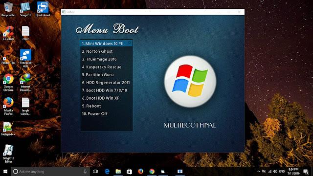 Thêm Acronis True Image 2016 vào menu boot của usb multiboot