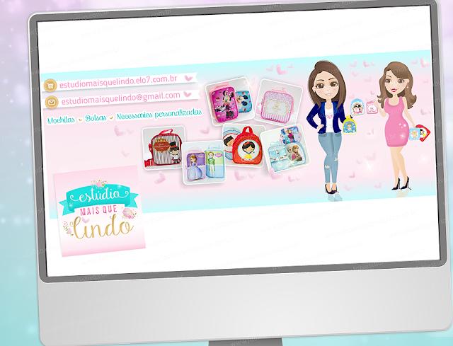 Logo, Logotipo, Logomarca, panfleto, layout para panfleto, layout para facebook, Logo fofo, personalizados para festas, panfleto, mascotes fofas, bonequinhas personalizadas, bolsinhas personalizadas, mochilinhas personalizadas