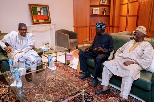Buhari Meets Tinubu, Akande In Aso Rock After Obasanjo's Bombshell (Photos)