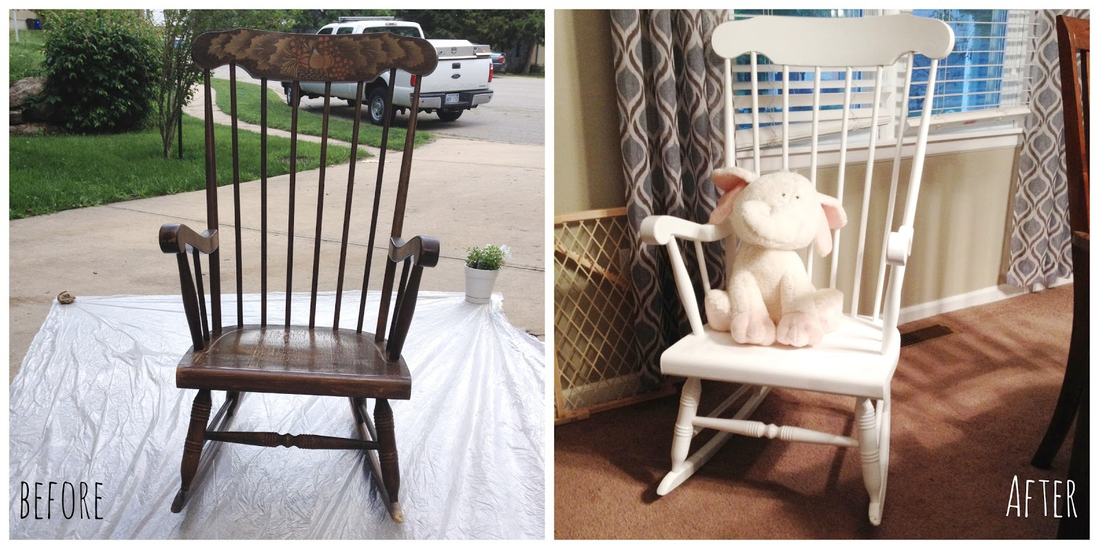 Diy Painted Windsor Chairs A Gaming Chair Spray Painting Rocking Baby By Oakley