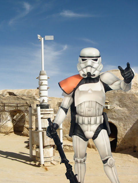 "The ""Sandtrooper"" work."