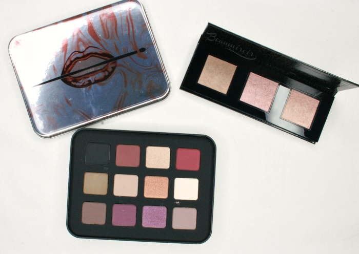 Make Up For Ever eyeshadow palette Lancome glow for it Highlighter palette
