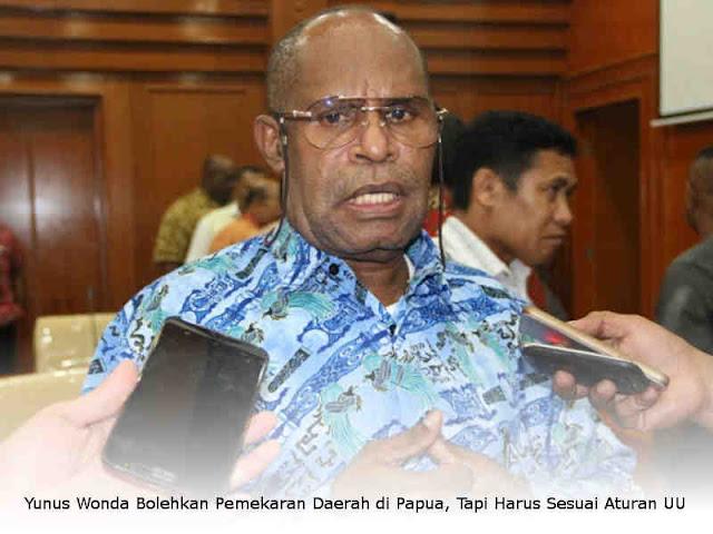 Yunus Wonda Bolehkan Pemekaran Daerah di Papua, Tapi Harus Sesuai Aturan UU