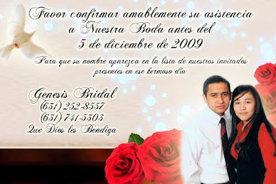 Tarjeta de Confirmación de Invitados para Boda Elegante y Novedosa Roja con Rosas Rojas Personalizada con Fotografía