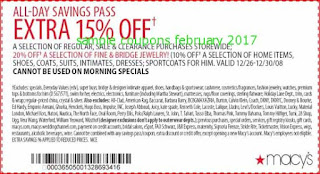 free Macy's coupons for february 2017