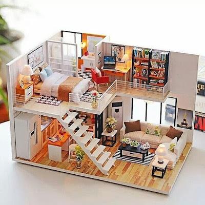 denah rumah unik minimalis
