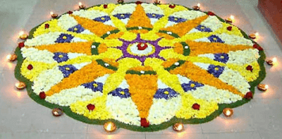 onam pookalam outline